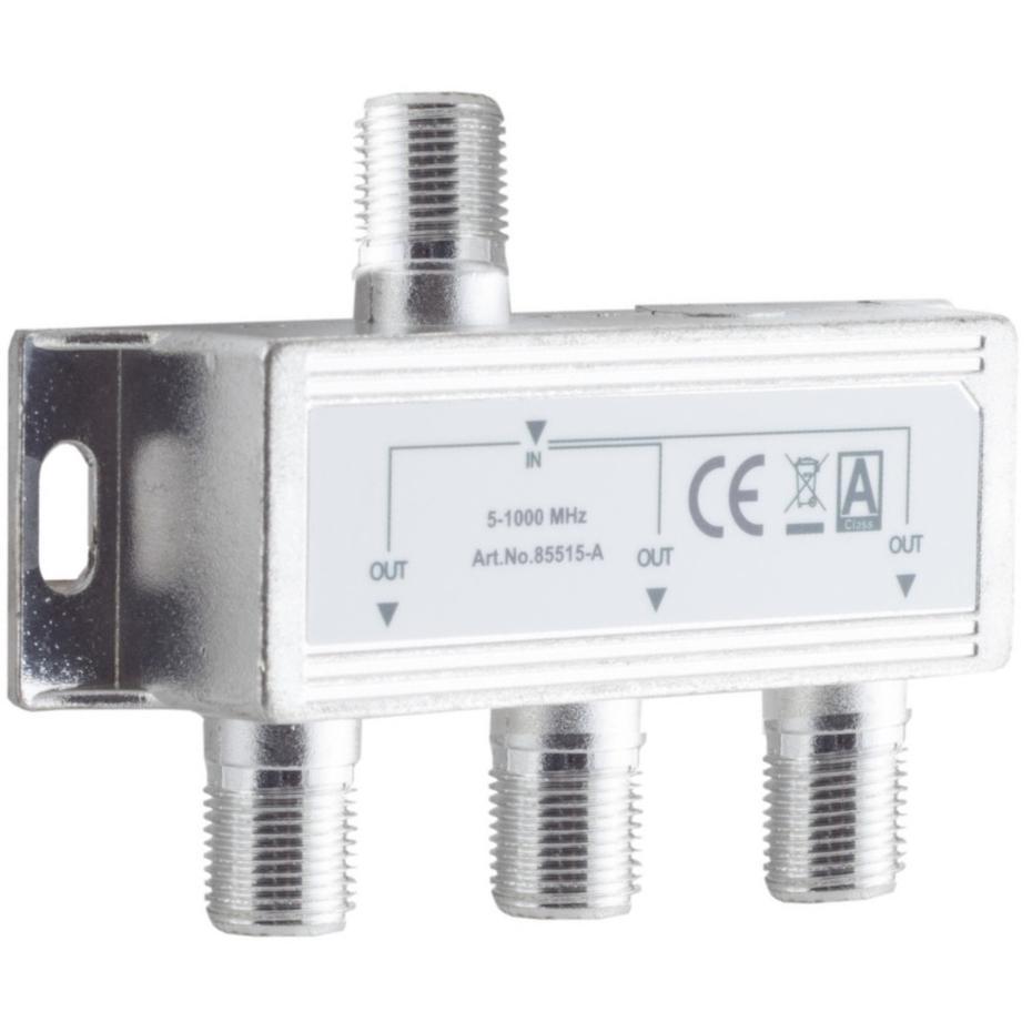 Image of CATV-Splitter 6.8 DB / 5-1000 MHz - 3 Uitgangen