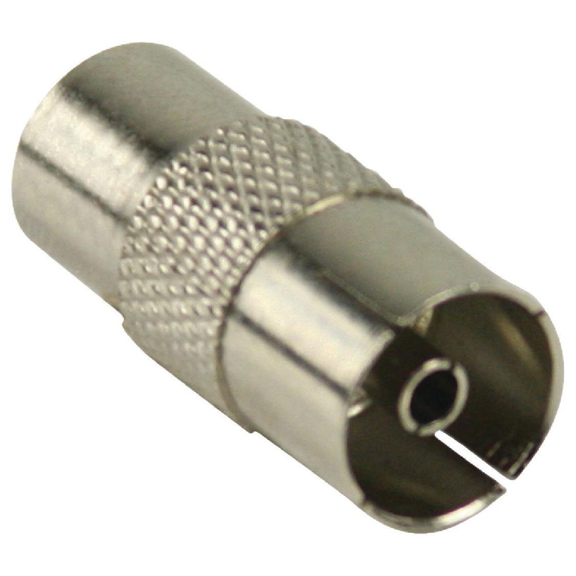 Coax Verloopstekker Aansluiting 2: IEC Female