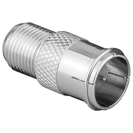 Image of Antenne Adapter F-Male Quick - F-Connector Female Zilver