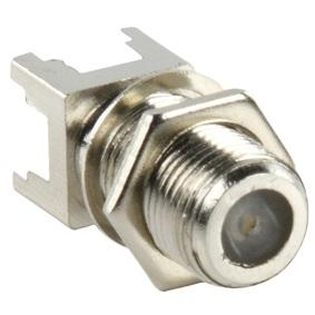 F-Connector Chassisdeel Female, Solderen