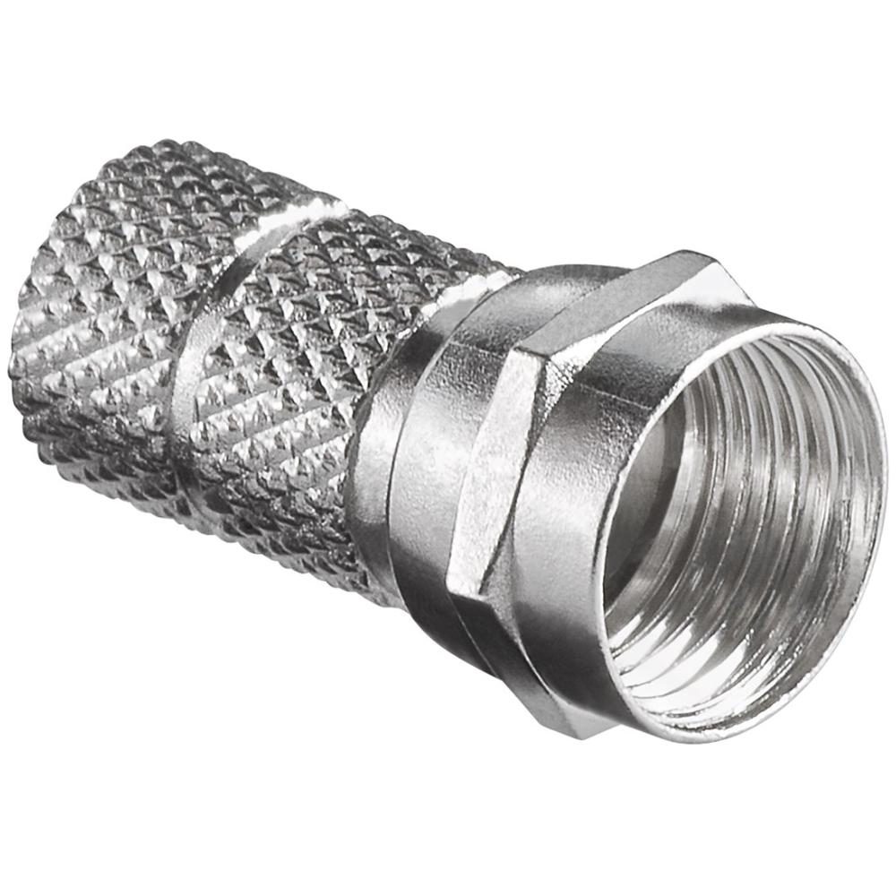 F-Connector Twist-on Gat/kabeldiameter 6.4mm