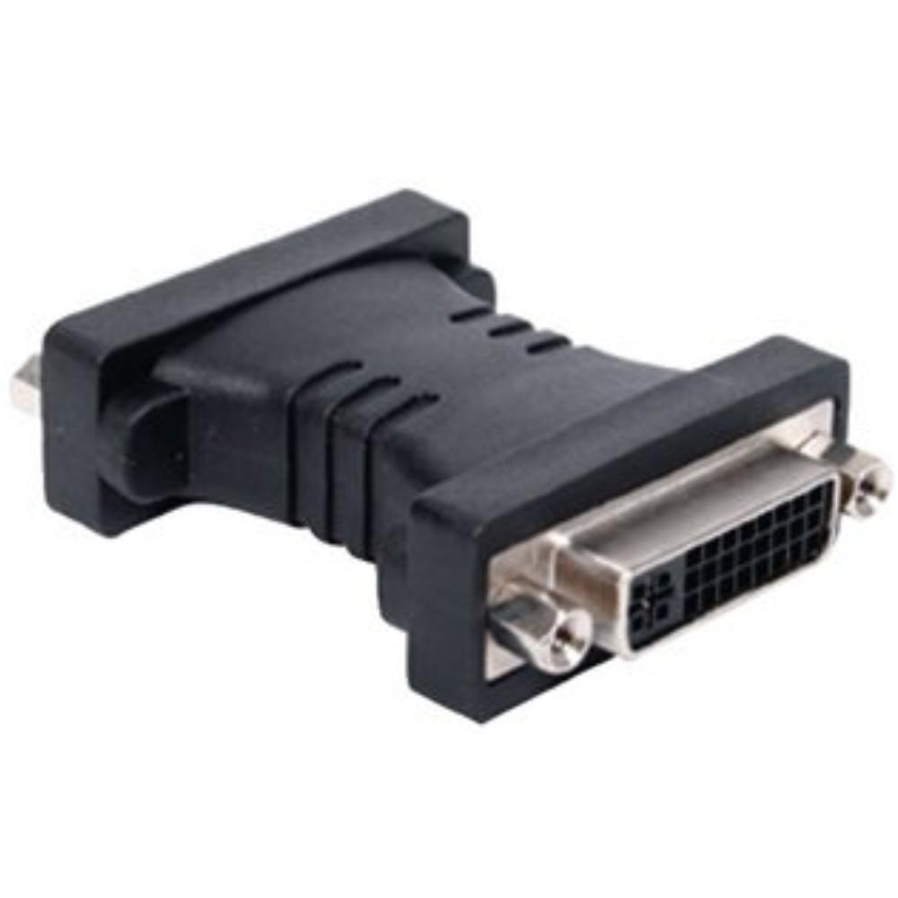 Image of DVI-Adapter DVI-I 24+5-Pins Female - DVI-I 24+5-Pins Female Zwart