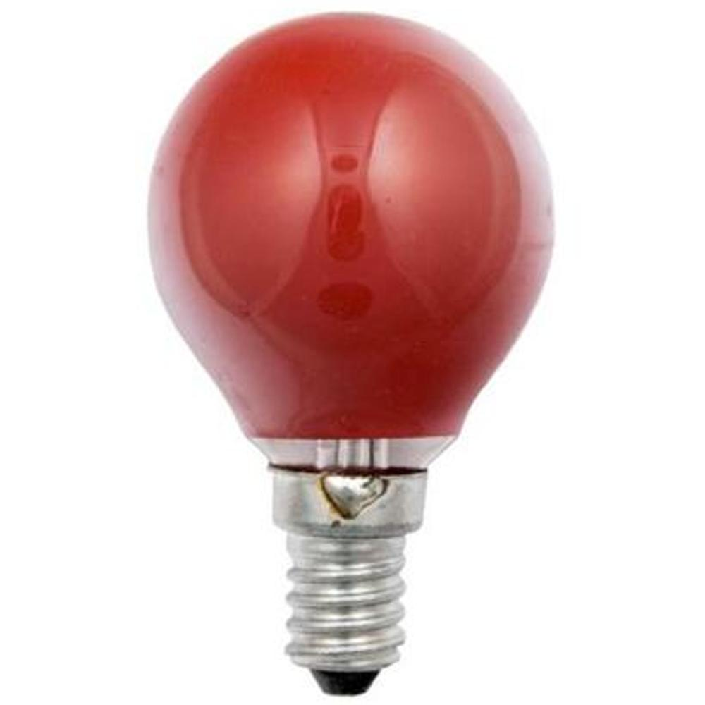E14 Lamp - Gloeilamp Kleur: Rood