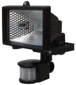 halogeen buitenlamp met bewegingssensor Aansluiting op lichtnet (230V)