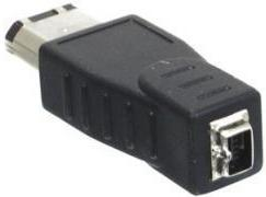 Fire Wire Verloopstekker Firewire adapter, 4 polig female naar 6 polig male
