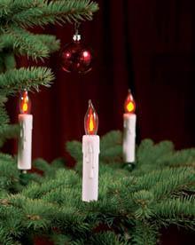 kerstboom verlichting kaars