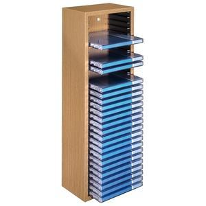 hama cd rack 30 beuken sterk houten cd opbergbox met veer mechanisme en muurbevestiging voor. Black Bedroom Furniture Sets. Home Design Ideas
