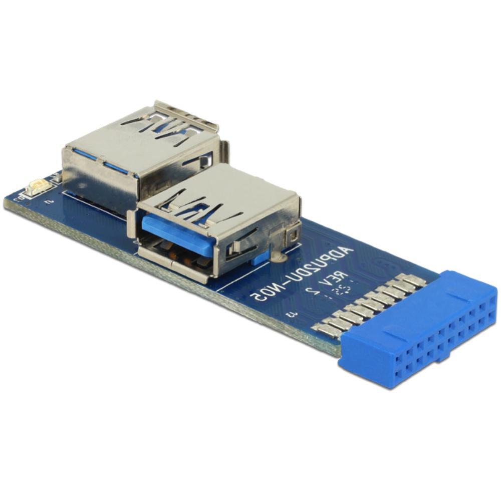 Afbeelding van 19 Polige Pin header naar USB A Delock