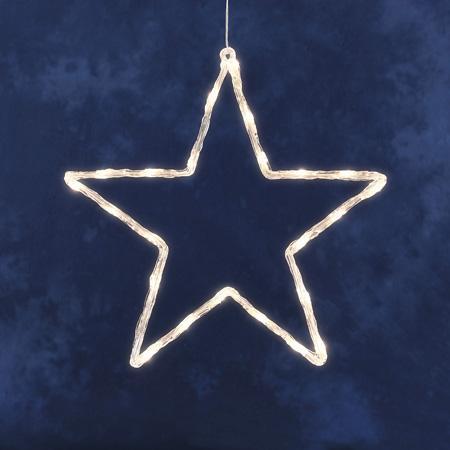 Kerstster LED - Kerstster (LED) Kleur: Wit Aantal lampjes: 24 ...