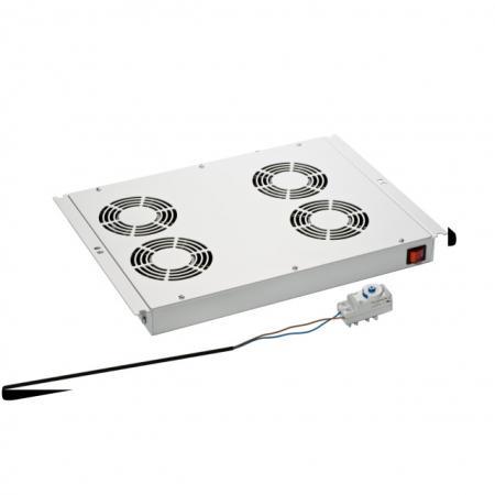 Afbeelding van 19 inch Serverkast ventilator 4 ventilatoren Techtube Pro