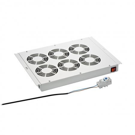 Afbeelding van 19 inch Serverkast ventilator 6 ventilatoren Techtube Pro