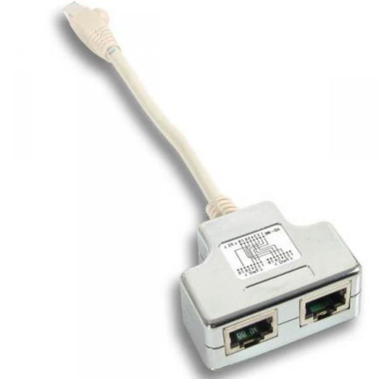 netwerk splitter cablesharing netwerk splitter cablesharing cat 5 rj45 connector 2x rj45. Black Bedroom Furniture Sets. Home Design Ideas
