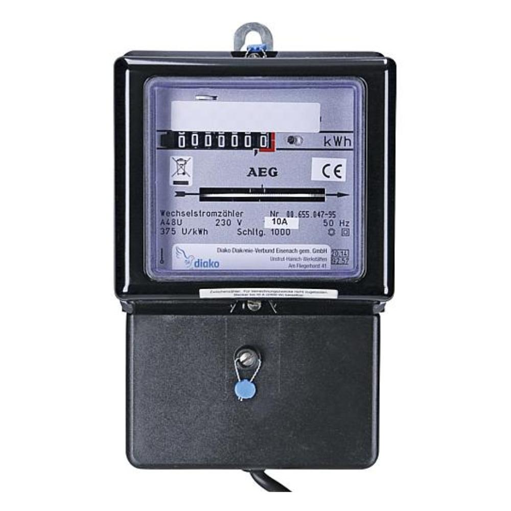 Stopcontact Sterkstroom KWh meter 10A - 220V/AC