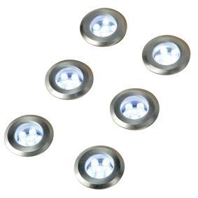 6 LED solar grondspots - Type: Grond LED Spot, Voeding: Solar, Kleur ...