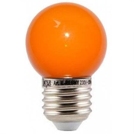 E27 Lamp - LED Kleur: Oranje,
