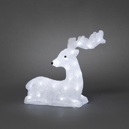 kerstfiguur rendier lampjes 40 koud wit led toepassing binnen en buiten voeding netstroom afmetingen b38 x h36 centimeter