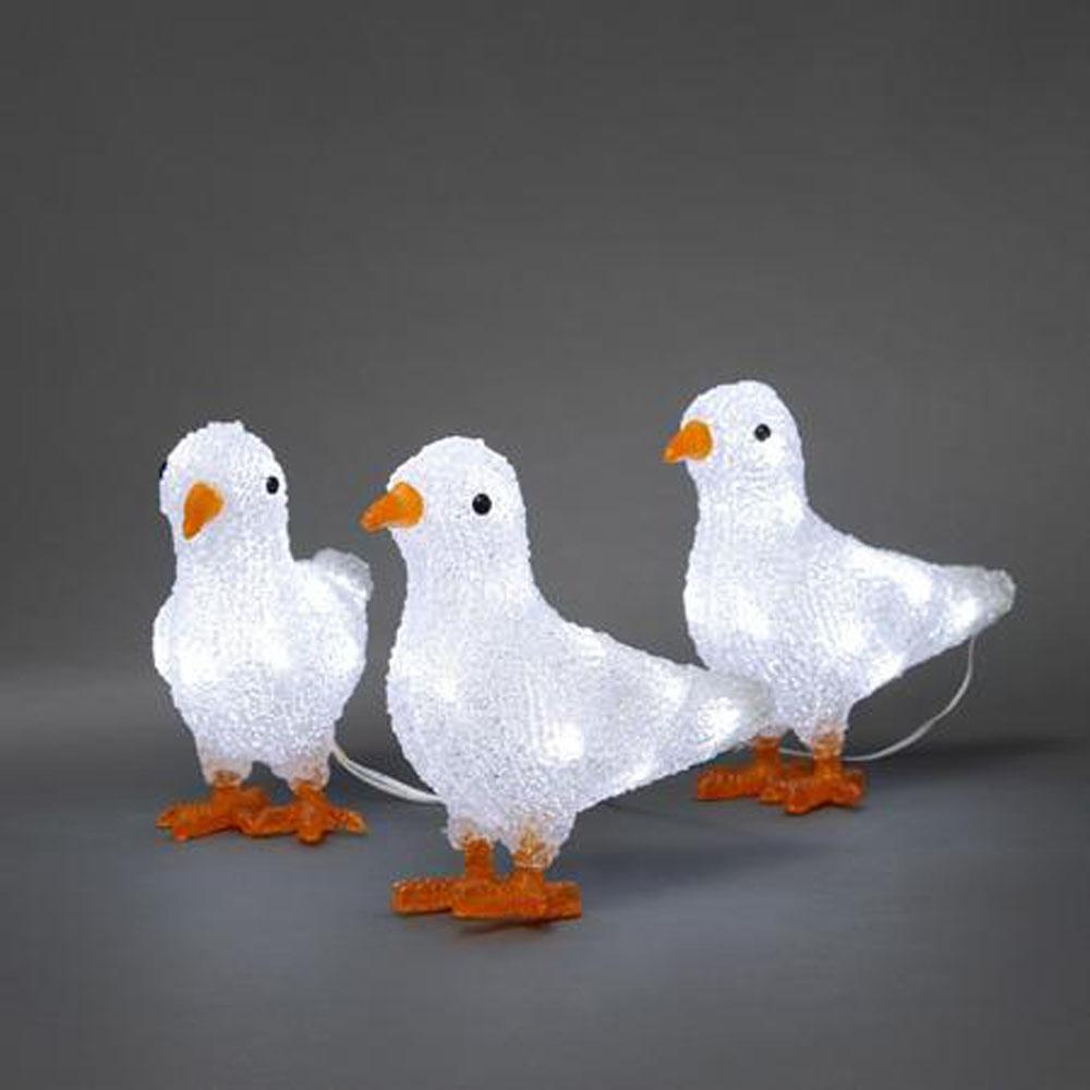 Kerstfiguur - Vogels - Kerstfiguur - Koud Wit, Type: LED - Vogels ...