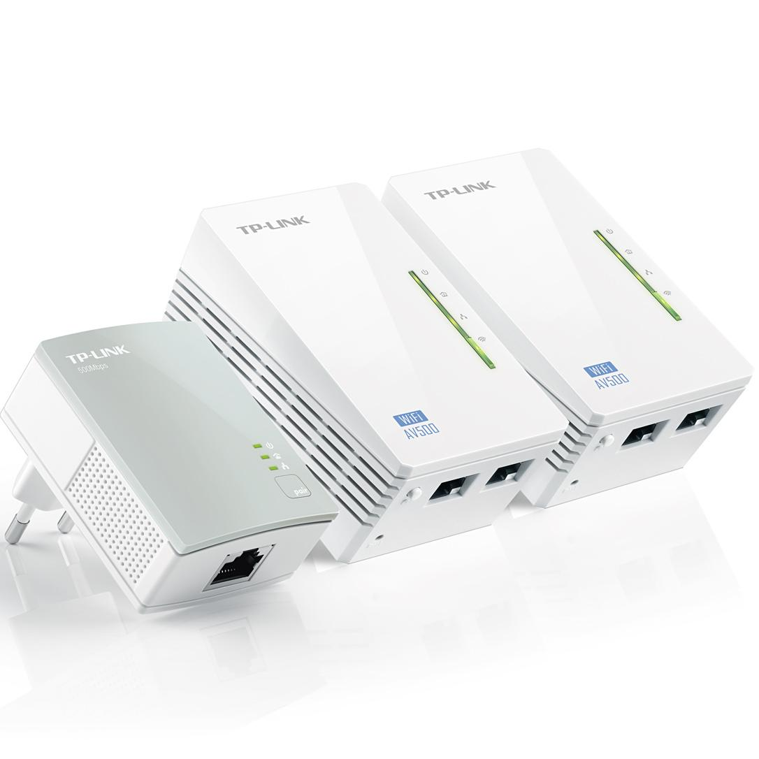 Powerline adapter Set - 500 Mbps - Met wifi Set van 3 stuks