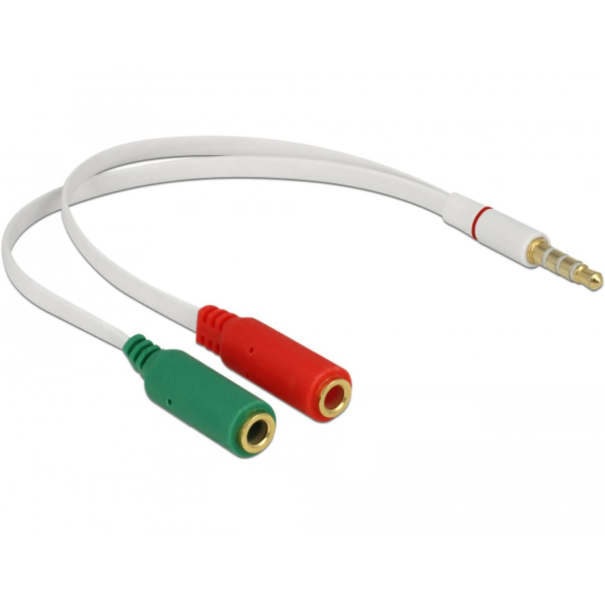 Jack splitter kabel - Microfoon en audio o.a. geschikt voor Apple Iphone/iPad en Playstation 4