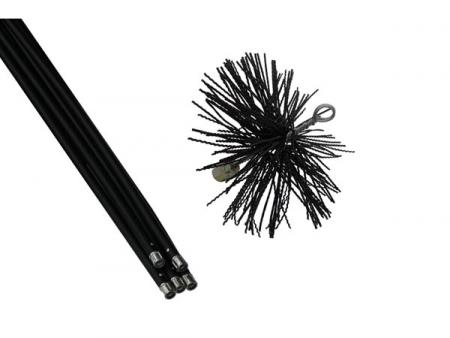 Toolland Schoorsteenveegset - borstel dia. 200 mm - nylon