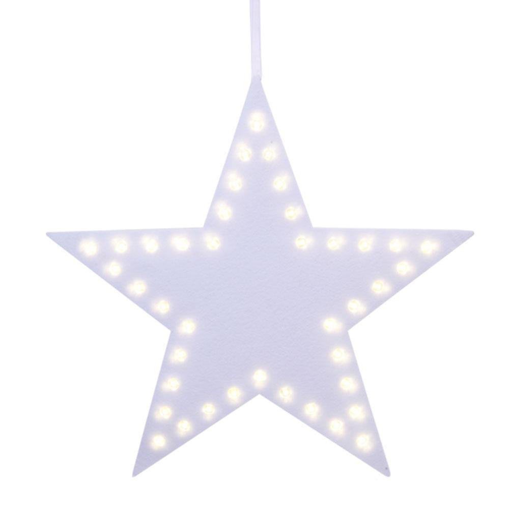Kerstversiering - Kerstversiering - Ster, Verlichting: LED - Warm ...