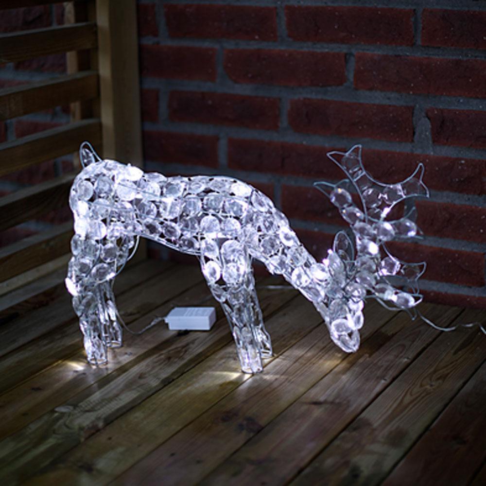 Kerstfiguur - Rendier - Kerstfiguur - Koud Wit, Type: LED - Rendier ...