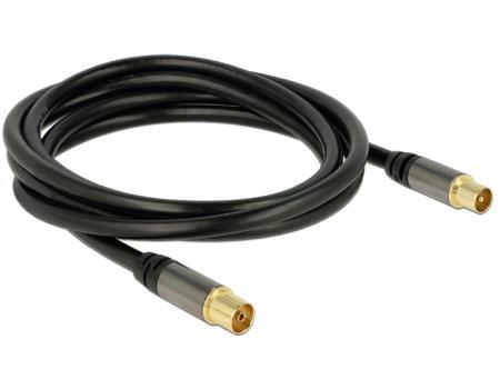 antenne kabel antenne kabel zwart aansluiting 1 iec male aansluiting 2 iec female. Black Bedroom Furniture Sets. Home Design Ideas