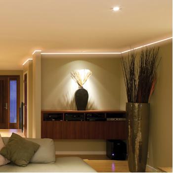 LED-strip, eenvoudige installatie, warm wit licht, voor binnen en ...