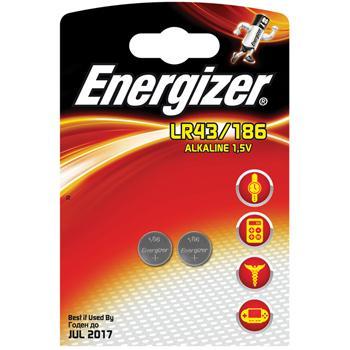 Afbeelding van Alkaline battery LR43 1.5V 2 blister Energizer