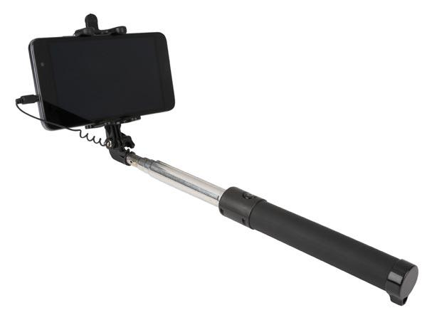 selfie stick zelfontspanner selfie stick zwart type sluiterknop via bluetooth verbinding. Black Bedroom Furniture Sets. Home Design Ideas