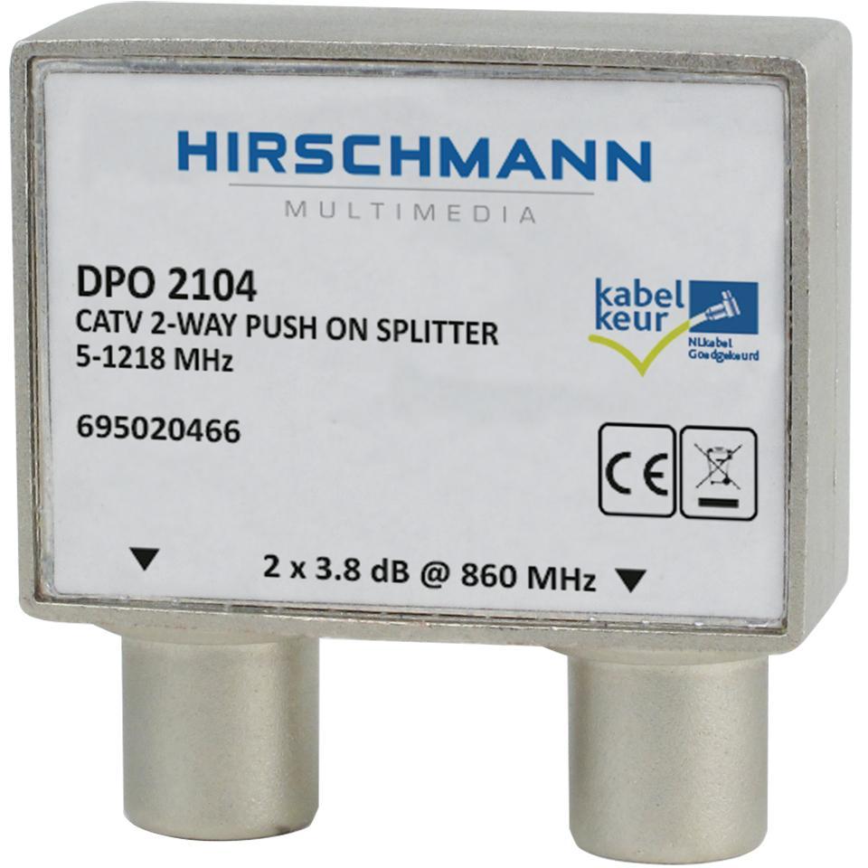 Bedwelming Coaxsplitter voor analoog of digitaal signaal bij Allekabels RH03