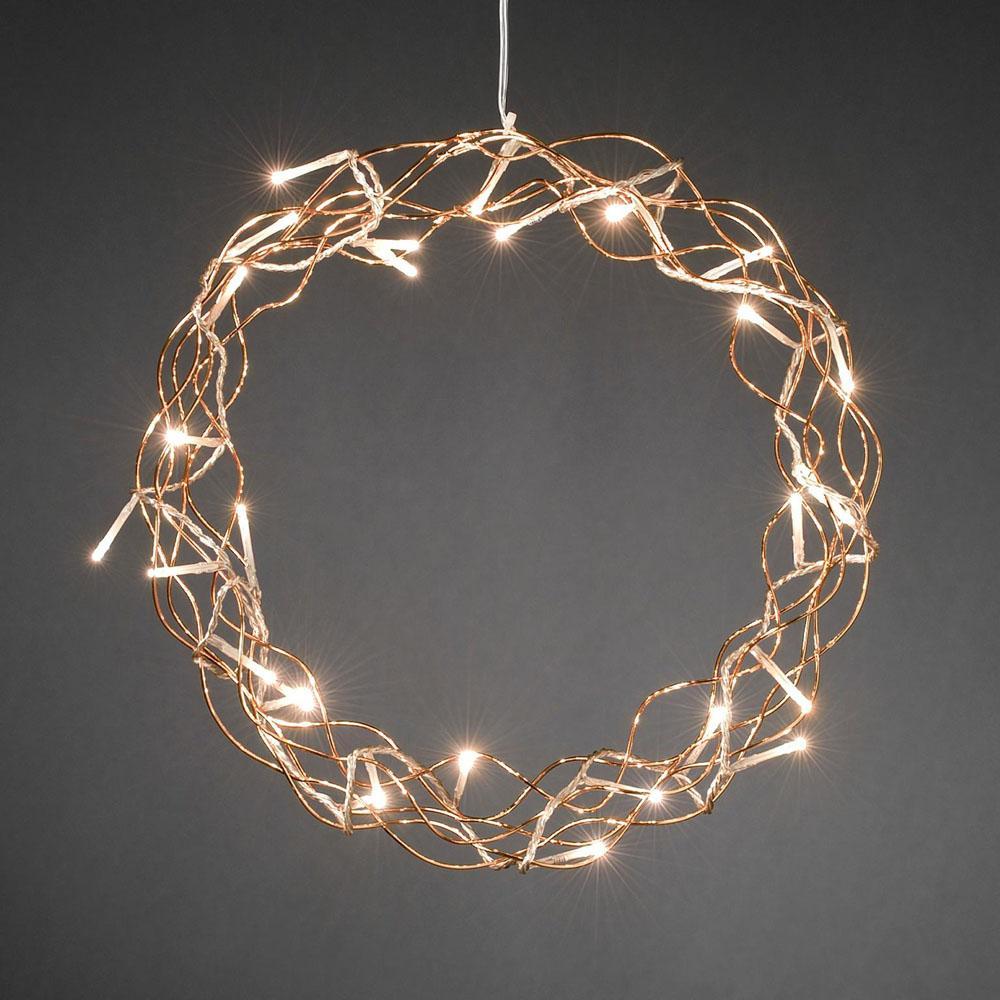 Kerstkrans met LED verlichting kopen bij de goedkoopste LED expert ...