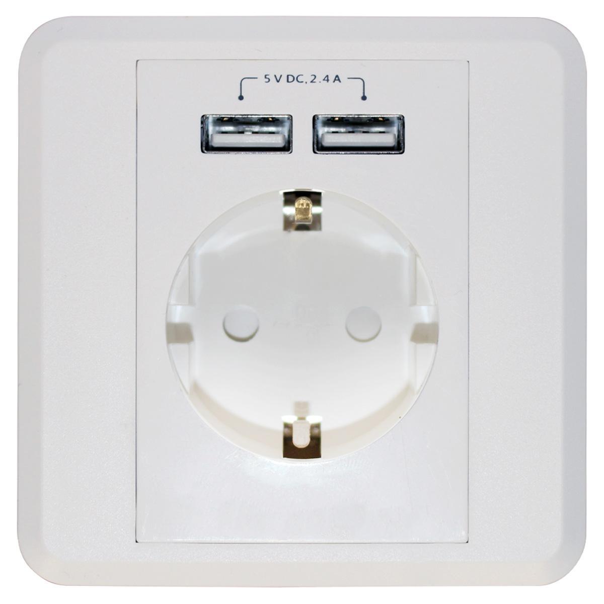Bekend Inbouw Stopcontact - Met USB - Inbouw Stopcontact - Wit, Met UD21