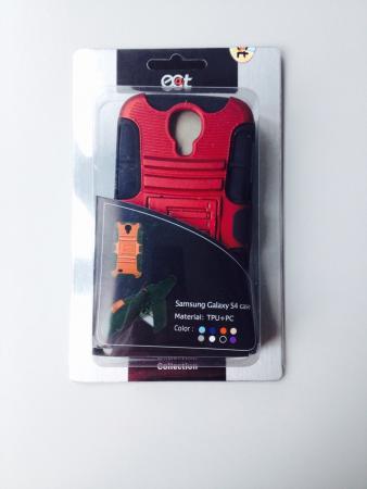 Afbeelding van ecat ECCLTIP602R Samsung Galaxy S4 Case Red/Black