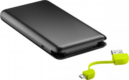 8000 mAh Powerbank - Zwart Laadstroom: 2000 mA