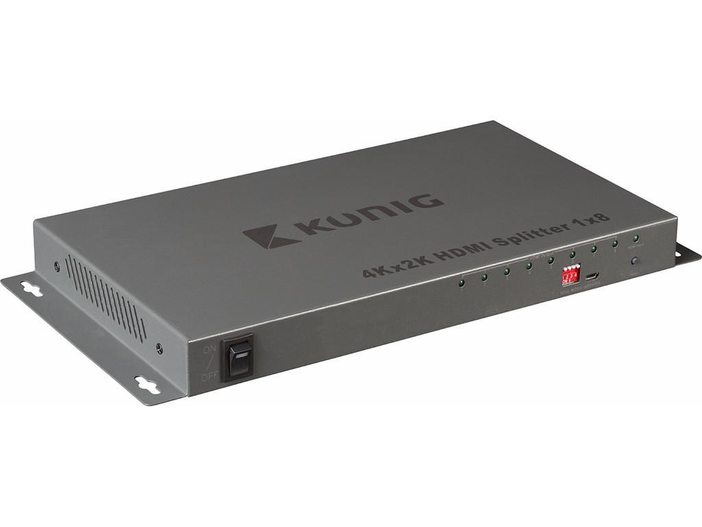 Afbeelding van 8 poorts HDMI splitter Ultra HD 4K en 3D
