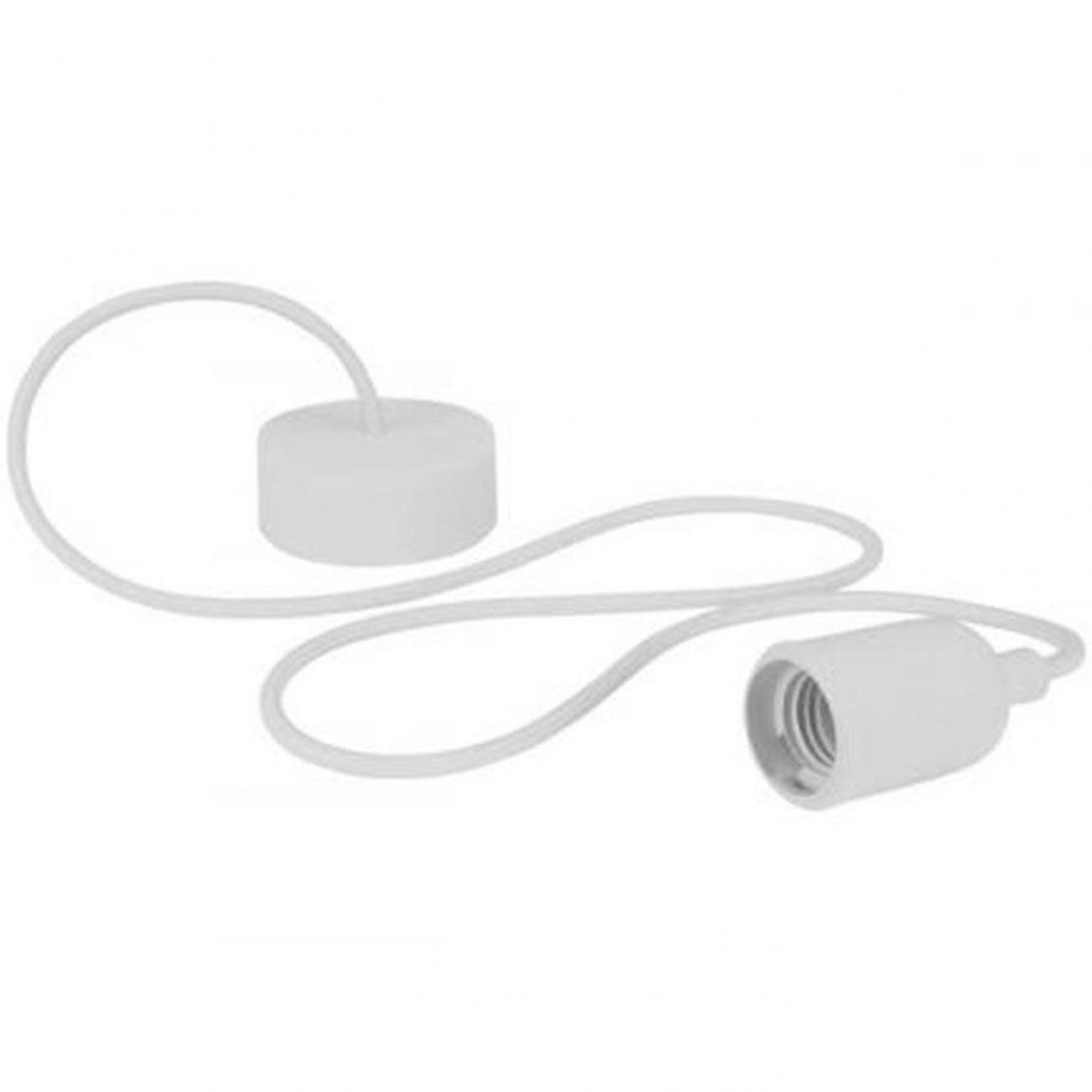 Uitzonderlijk E27 Hanglamp armatuur - Retro Wit - Hanglamp Armatuur - Wit AC36