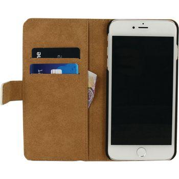 Smartphone Classic Wallet Book Case Apple iPhone 7 Plus Wit