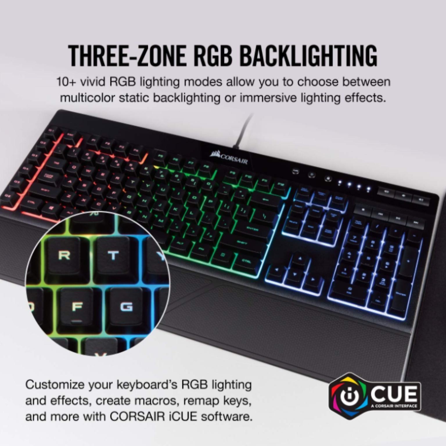 Bedraad gaming toetsenbord Corsair Merk: Corsair K55 RGB