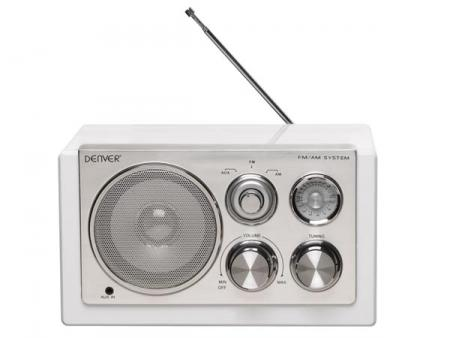 Afbeelding van TR 61WHITE Radio in smart design (white) Denver Electronics