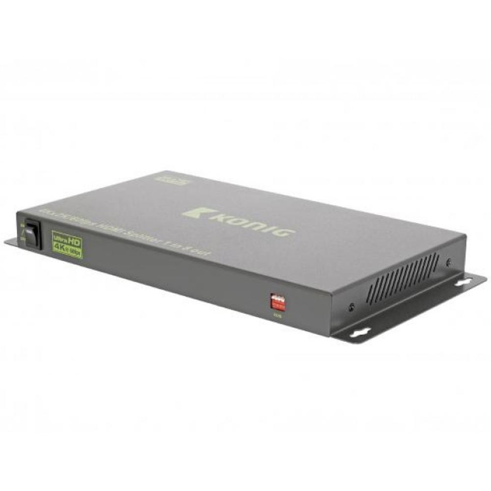 Afbeelding van 8 Poorts Ultra HD HDMI Splitter Donkergrijs