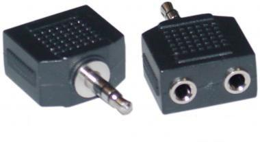Afbeelding van Eb Adapter 3,5mm/2x3,5mm [female]