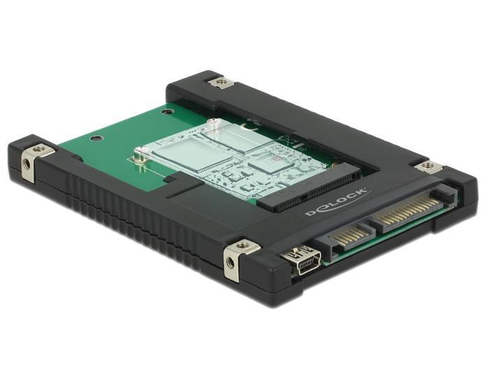Afbeelding van 2.5″ Konverter SATA 22 Pin / USB 2.0 Typ Mini B > 1 x mSATA P