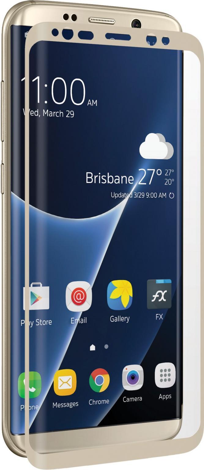 Afbeelding van Samsung Galaxy S8+ Beschermglas Goud 3SIXT