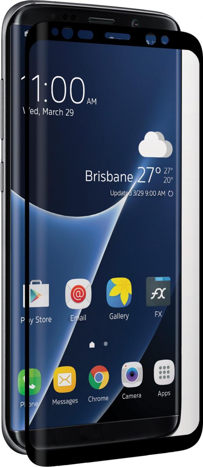 Afbeelding van Samsung Galaxy S8+ Beschermglas Zwart 3SIXT