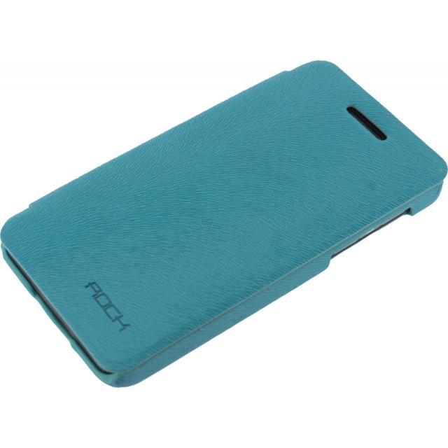 Afbeelding van Rock Big City Leather Side Flip Case BlackBerry Z10 Light Blue