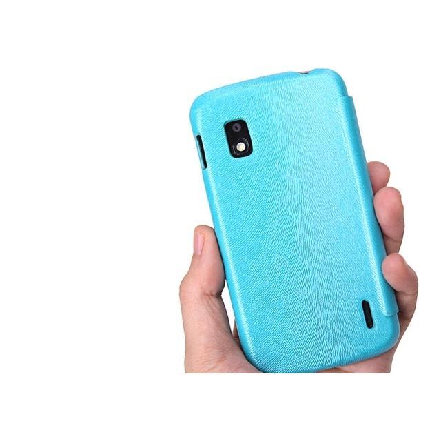 Afbeelding van Rock Big City Leather Flip Case LG Google Nexus 4 E960 Light Blue Ro