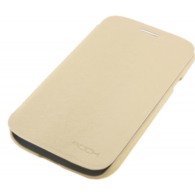 Afbeelding van Rock Big City Leather Side Flip Case Samsung Galaxy Grand I9080 Cream
