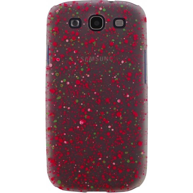 Afbeelding van Xccess Cover Spray Paint Glow Samsung Galaxy SIII I9300 Pink