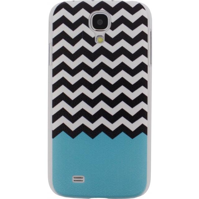 Xccess Cover Samsung Galaxy S4 I9500/I9505 Turquoise Stripes Xccess Cover Samsung Galaxy S4 I9500/I9505 Turquoise Stripes